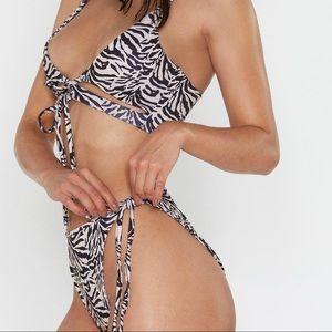 High leg bathing suit